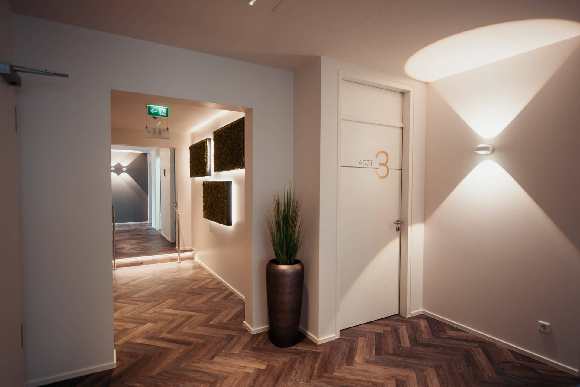 Eingangsbereich der nexmed Praxis in Dortmund